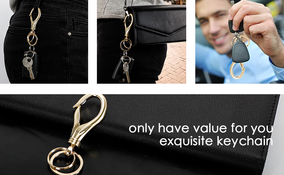 gold keychain for car key