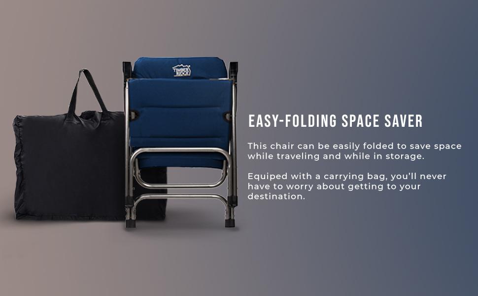 Amazon Com Timber Ridge Camping Folding Chair High Back