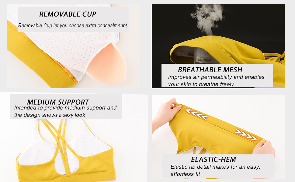 This sweat-wicking cross-strap bra gives you the coverage and support you need for yoga, run,