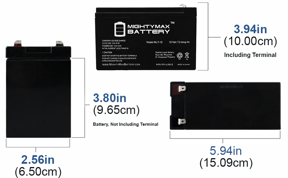ML7-12 Mighty Max 2 Pack 12V 7.2AH VERIZON FIOS REPLACEMENT BATTERY
