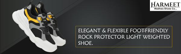 Harmeet Elegant & Flexible Foot-Friendly Rock Protector Light Weighted Shoe with Mesh Design SPN-REE