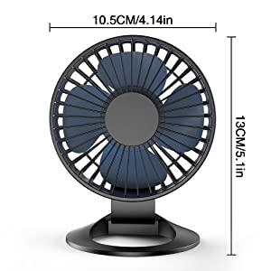 WT-YOGUET Mini Handheld Fan Small Personal Portable Table Fan with USB Rech USB Desk Fan