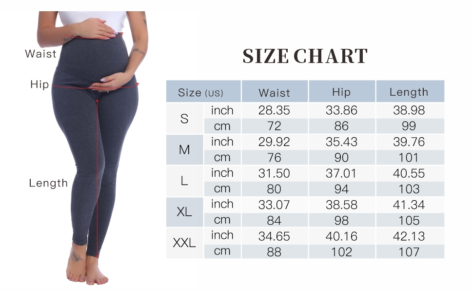 Joyaria Maternity Leggings Over The Belly Pants Pregnant Nursing Trousers At Amazon Women S Clothing Store