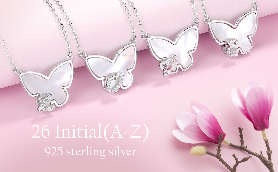 capital initial necklace for girls women