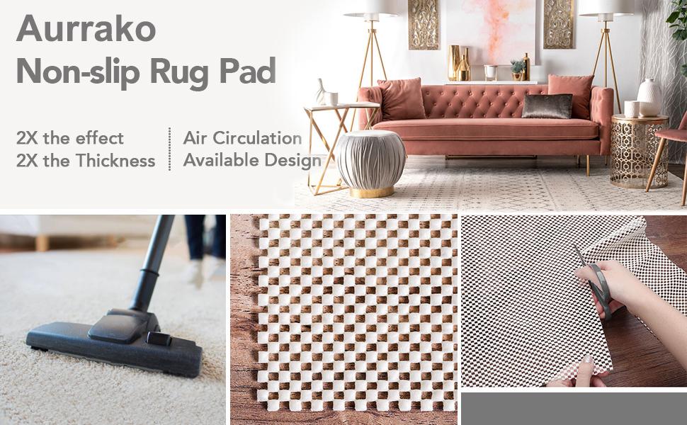 8x10 2x10 5x7 rug pads