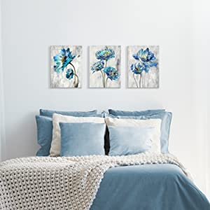 flower paintings for wall