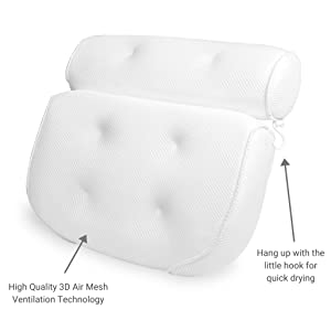 Bathtub Pillow Features for a Relaxing Bath Experience