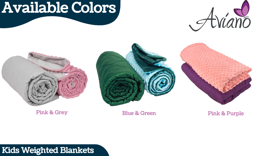 weighted blanket kids blankets childrens child toddler waited weight pink size cover heavy throw lb