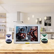 Watch movie  [2 Pack] Bluetooth Portable Speaker, True Wireless Stereo Speakers, Crystal Clear Stereo Sound, Rich Bass, 100 Ft Wireless Range, Microphone, LED Light Show, TF Card, Aux in, Mini Small Pocket Size¡ b07741c9 4d70 4df8 b18d c1a9b6a4b183