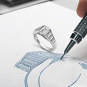 emerald cut ring, baguette ring