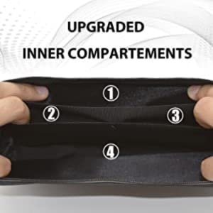 multi pockets compartments waist fanny pack help you organize your stuff while slim and nice