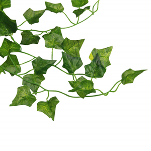 Decorative ivy tendril LUKA 3 ft // 90 cm 356 leaves artplants white-green Fake ivy // Artificial trailing plant