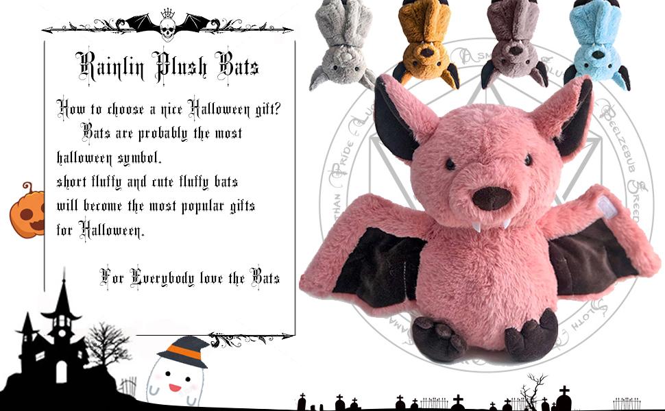 kids adult baby soft bat plush toy fun cute stuffed animal halloween christmas birthday 11 inch