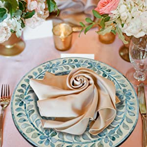 rattan chargers for dinner plates