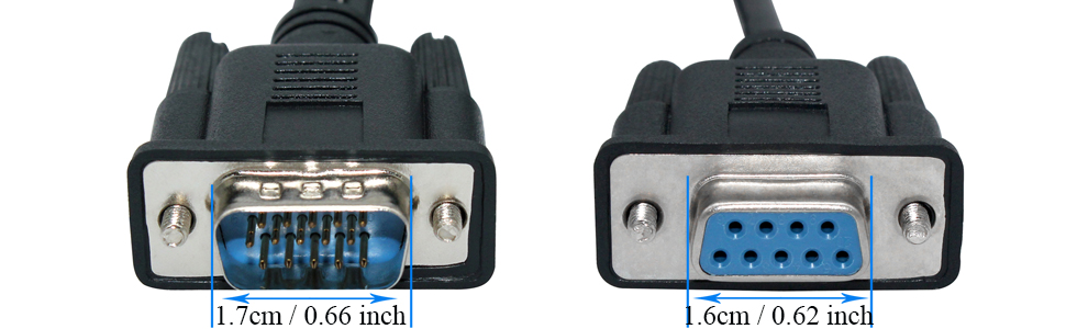 VGA DB15 Pin Male to DB15 Pin Male Gender Adapter Converter by Uptell