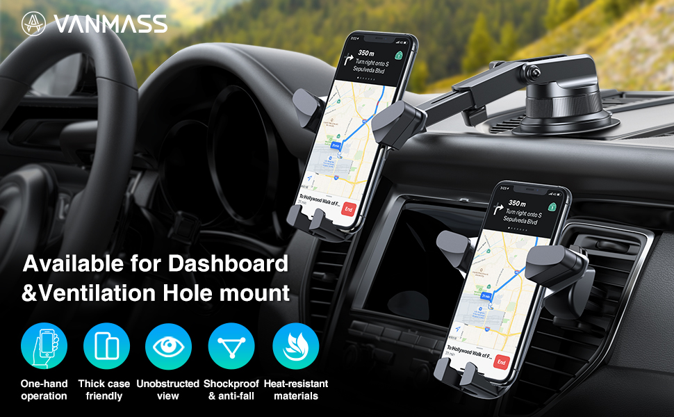 available for dashboard &Ventilation hole mount