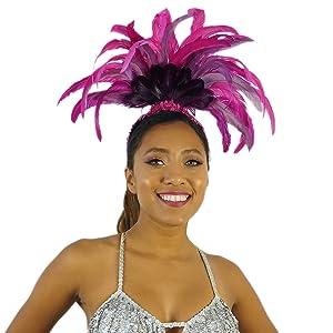 Carnival Headpiece Black W//Gold Trim