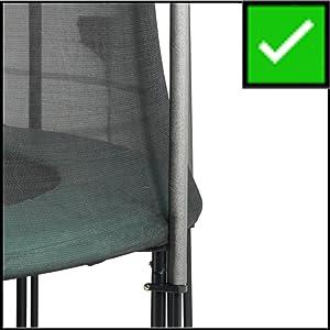 Randafdekking geschikt voor trampolines met buitennet