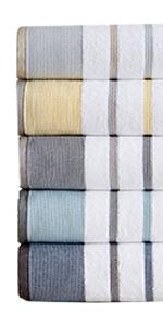 Noelle Striped Turkish Cotton Bath Towels