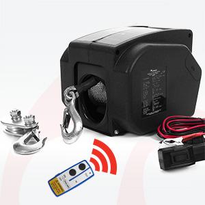 Rotfuchs Elektrische Seilwinde 12v 2721 Kg Mit Funkfernbedienung Gewerbe Industrie Wissenschaft