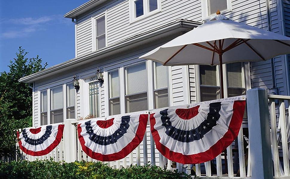 Amazon Com Evergreen Flag Patriotic Bunting 58 X 44 X 27 Inches Americana Outdoor Décor For Your Porch Patio Or Garden Garden Outdoor