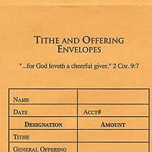 offering envelopes, tithe envelopes, yellow offering envelopes, offering envelopes for church