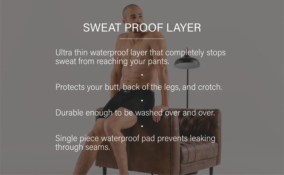 ultra thin waterproof no seam single piece prevent sweat marks machine washable protection no leak