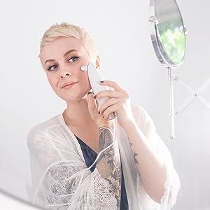 trophy skin microdermabrasion derma exfoliate mirror compact filters skin care sensitive