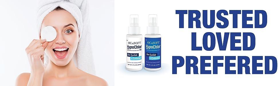spray, trusted, cleanser, face, eyelids, hypochlor, hypochlorous acid