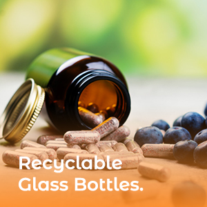 Recyclable glass bottles