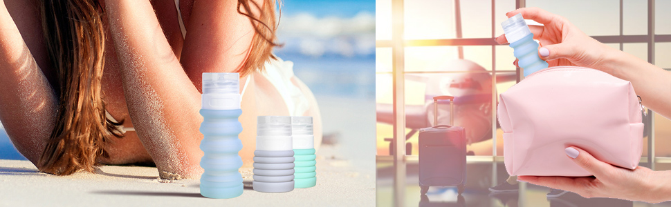 silicone travel bottles travel container set