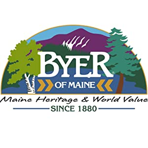 byer of maine logo square outdoor camping furniture wood cots patio backyard hammock wooden wood