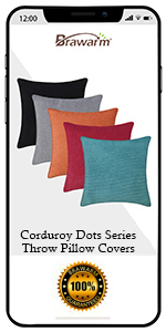 Corduroy Dots Throw Pillow Cover