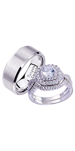 newshe wedding rings set for him and her