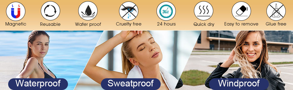 water proof, sweat proof, wind proof