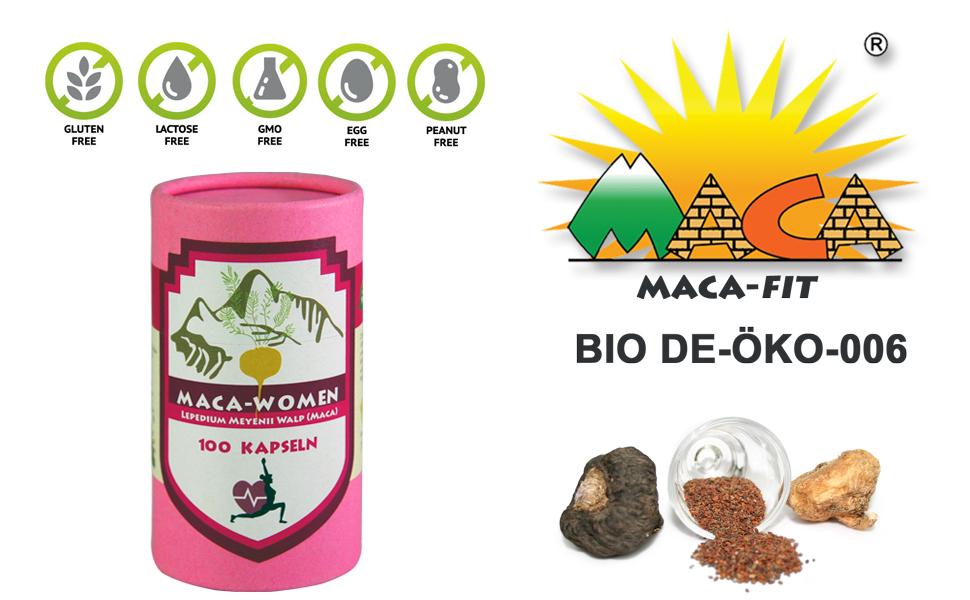 Maca Woman 100 cápsulas original del Peru, cápsula contiene maca y ...