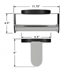 Dimensions of Under the Cabinet Mounting Paper Towel Holder