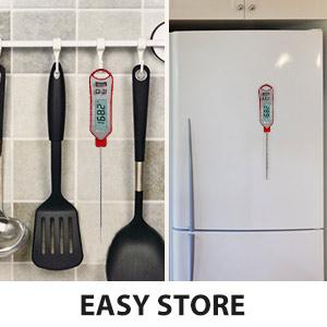 Convenient storage bbq thermometer