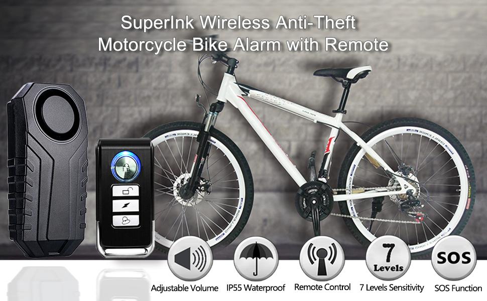 wireless anti-thief alarm with remote
