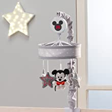 Magical Mickey Mouse Mobile Attached to Crib