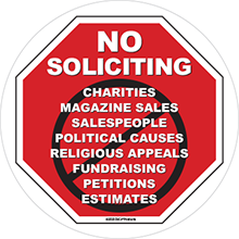 no soliciting sign no soliciting decal for window no trespassing sign