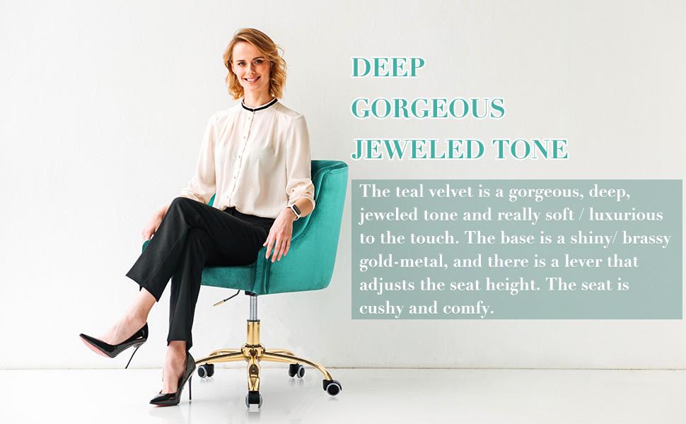 velvet office chair gold base teal velvet office chair with wheels fuzzy desk chair