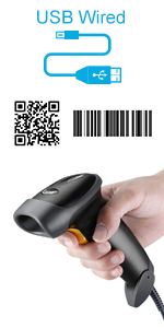 USB wired 2d barcode scanner