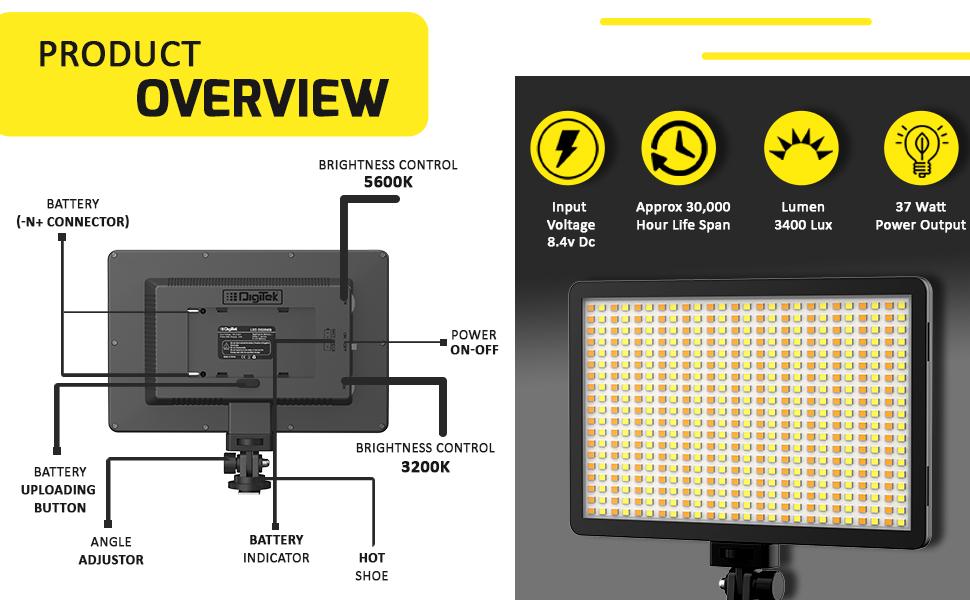 digitek; video light kit; digitek video light; video lighting for youtube; video light led; video