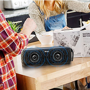 2  ABFOCE Solar Bluetooth Speaker Portable Outdoor Bluetooth IPX6 Waterproof Speaker with 5000mAh Power Bank,60 Hours Play Time Dual Speaker with Mic, Stereo Sound with Bass Home Wireless Speaker-Black b0db3669 813e 4eba 8571 ab19c831b96c