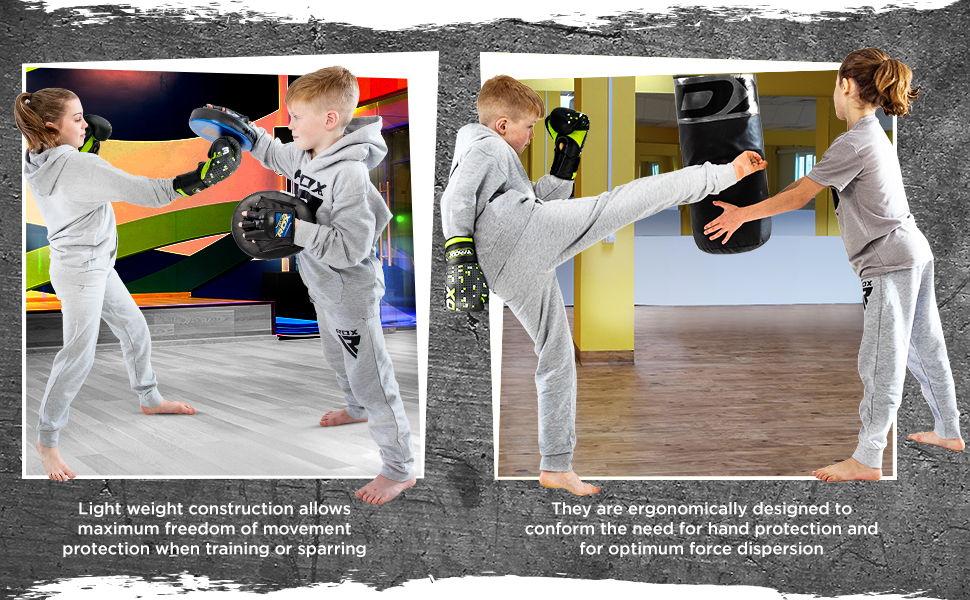 Kids Boxing Gloves for Training & Muay Thai