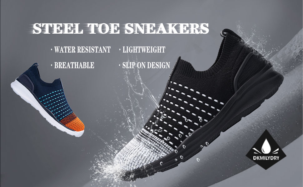 steel toe shoes waterproof slip resistant safety shoes ligntweight puncture proof shoes work shoes