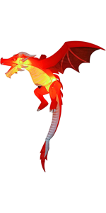 5 FT Tall Halloween Inflatable Hanging Flying Dragon