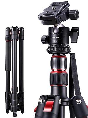 K&F Concept S210 200cm Trípode Completo para Cámara Reflex con ...