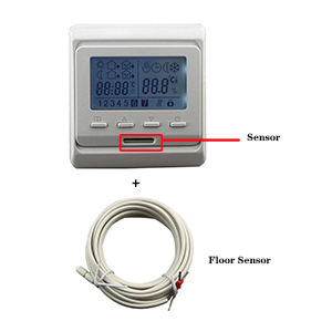 Electric Underfloor Heating Thermostat Digital Manual Programmable Room Thermostat with Sensor 220V